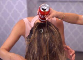 coca cola nei capelli