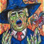 Jim Carrey ha pubblicato i suoi disegni dissacranti contro Donald Trumo