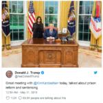 Kim Kardashian a colloquio con il presidente Trump: non è uno scherzo (FOTO)