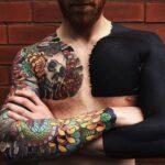 24 tatuaggi total black che vi faranno quasi impressione a guardarli