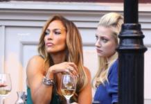 Jennifer Lopez sul set di Hustler