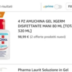 Coronavirus, Amuchina venduta su Amazon a prezzi esorbitanti – GUARDA