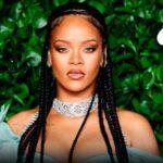 Rihanna risplende nell'outfit metallizzato di capodanno (FOTO)