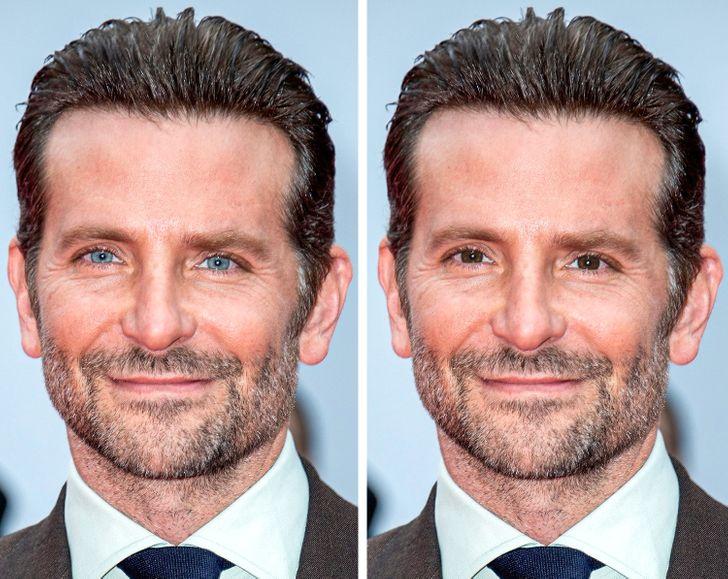 Come apparirebbero 20 celebrità dagli occhi azzurri con gli occhi marroni