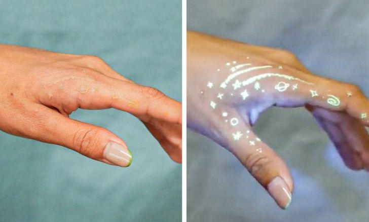 19 tatuaggi che hanno una sorpresa nascosta grazie all'inchiostro UV