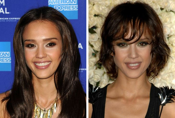 15+ Celebrity Women Who Look Like 2 Different People With and Without Bangs