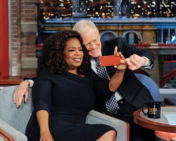 Oprah e David Letterman