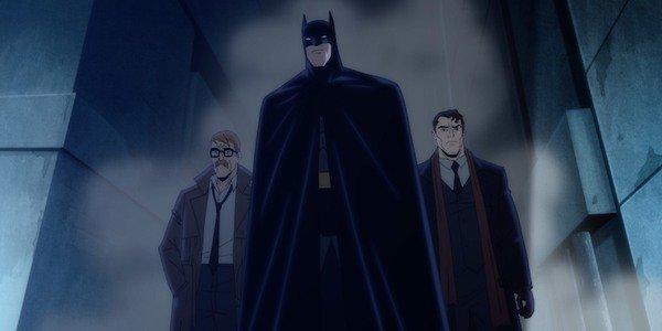 Jim Gordon, Batman e Harvey Dent in Batman: Il lungo Halloween, prima parte