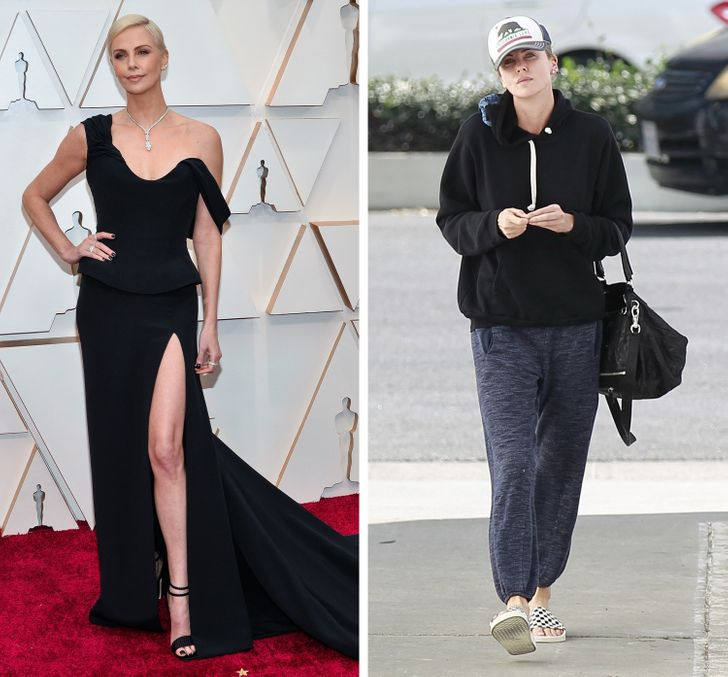 16 Celebrities That Shine on the Red Carpet but Dress Like Regular People From the Neighborhood in Their Everyday Lives